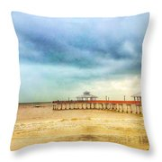 Fort Myers Pier Throw Pillow