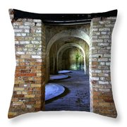 Fort Pickens Interior Throw Pillow