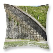 Fort Pickens Stairs Throw Pillow