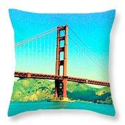 Fort Point Golden Gate Bridge Throw Pillow