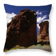 Fort Rock Twin Towers- H Throw Pillow