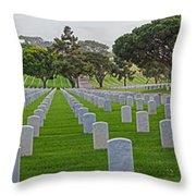 Fort Rosencrans National Cemetery Throw Pillow