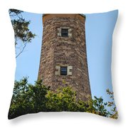 Fort Story Light House Throw Pillow