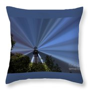 Fort Story Lighthouse Throw Pillow