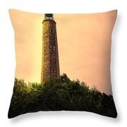 Fort Story Lighthouse Virginia Throw Pillow