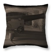 Fort Sumpter Cannon Throw Pillow