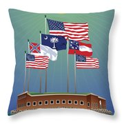 Fort Sumter, Charleston, Sc Throw Pillow