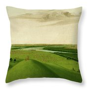 Fort Union, Mouth Of The Yellowstone River, 2000 Miles Above St. Throw Pillow