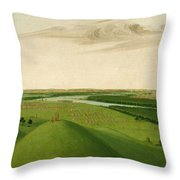 Fort Union Mouth Of The Yellowstone River 2000 Miles Above St Louis Throw Pillow