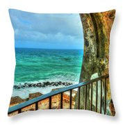 Fort Window View Throw Pillow
