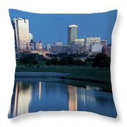 Fort Worth Blue 062217 Throw Pillow