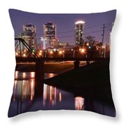 Fort Worth Panorama Throw Pillow
