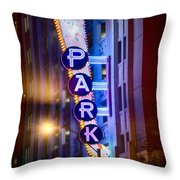 Fort Worth Park Sq Throw Pillow