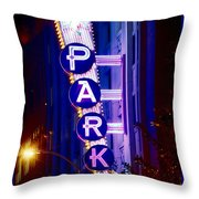 Fort Worth Parking Throw Pillow