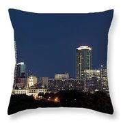 Fort Worth Skyline 051918 Throw Pillow