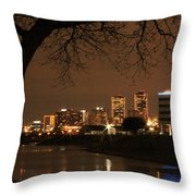 Fort Worth Skyline Throw Pillow