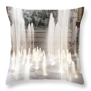 Fort Worth Sundance Square 33117 Throw Pillow