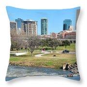 Fort Worth Trinity Park Throw Pillow