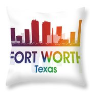 Fort Worth Tx Throw Pillow