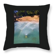 Fort Worth Water Gardens - Aerated Pool Throw Pillow