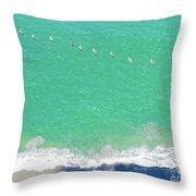 Forteen Pelicans Throw Pillow