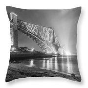 Forth Bridge Landscape Throw Pillow