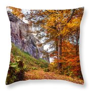 Fortification Koenigstein In Autumn Time Throw Pillow