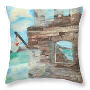 Fortress For My Son Throw Pillow