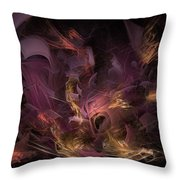 Fortress Of The Mind - Fractal Art Throw Pillow