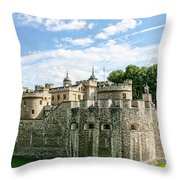 Fortress Of The Tower Of London Throw Pillow