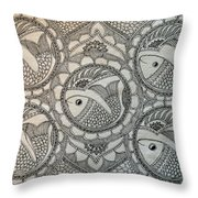 Fortune Fish Throw Pillow