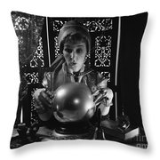 Fortune Teller, C.1970s Throw Pillow