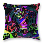 Fortune Wheels Throw Pillow