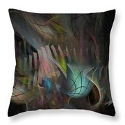 Fortune Willing - Fractal Art Throw Pillow