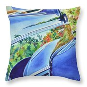 Forty Ford In Fall Throw Pillow