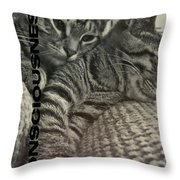 Forty Winks Quote Throw Pillow