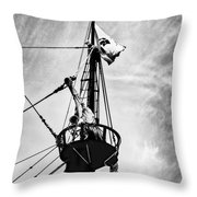 Forward Crow's Nest Throw Pillow