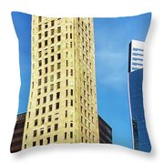 Foshay Tower From The Street Throw Pillow