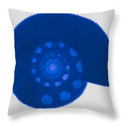 Fossil Ammonite, X-ray Throw Pillow