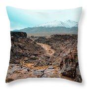 Fossil Falls  Throw Pillow