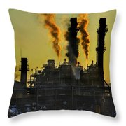 Fossil Fuels Throw Pillow