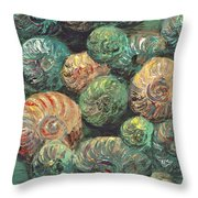Fossil Shells Throw Pillow