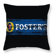Fosters Beer Sign 3a Throw Pillow