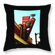 Foster's Bighorn Cafe Throw Pillow