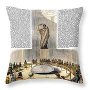 Foucaults Pendulum Throw Pillow