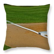 Foul Up The Line Throw Pillow