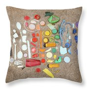 Found Items Rainbow Throw Pillow