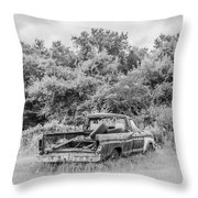 Found Off Road Dead Throw Pillow