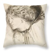 Found - Study For The Head Of The Girl Throw Pillow