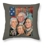 Founding Fathers Of America Throw Pillow